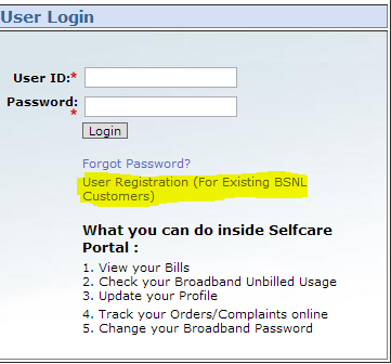 How to check your BSNL Broadband Usage